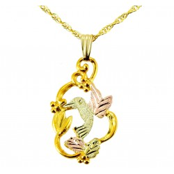 Landstrom's® 10K Black Hills Gold Pendant with Hummingbird