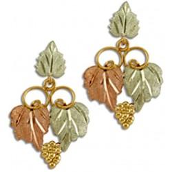 Landstrom's® 10K Black Hills Gold Dangle Leaves Earrings with Grape