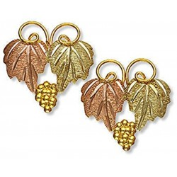 Landstrom's® 10K Black Hills Gold Post Leaves Earrings with Grape