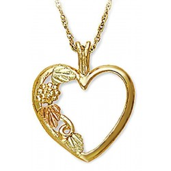 Landstrom's® 10K Black Hills Gold Heart Pendant with Leaves