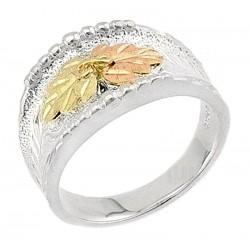 Landstrom's® Black Hills Gold on Sterling Ladies Ring Size 8
