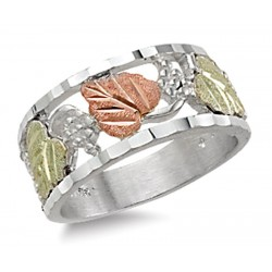 Landstrom's® Black Hills Gold Sterling Silver Ladies Band Ring