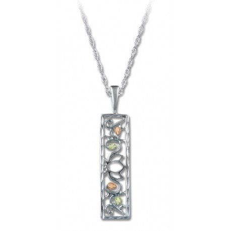 BLACK HILLS STERLING SILVER PENDANT NECKLACE