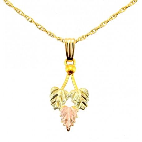 Landstrom's® 10K Black Hills Gold Traditional Leaves Pendant