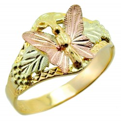 Mt Rushmore 10K Black Hills Gold Butterfly Ladies Ring