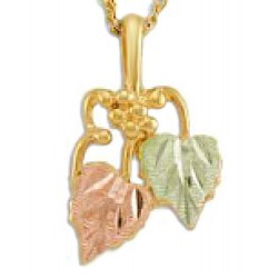 Landstrom's® 10K Black Hills Gold Leaves Pendant w Grape Accent