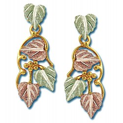 Landstrom's® 10K Black Hills Gold Leaves Dangle Earrings