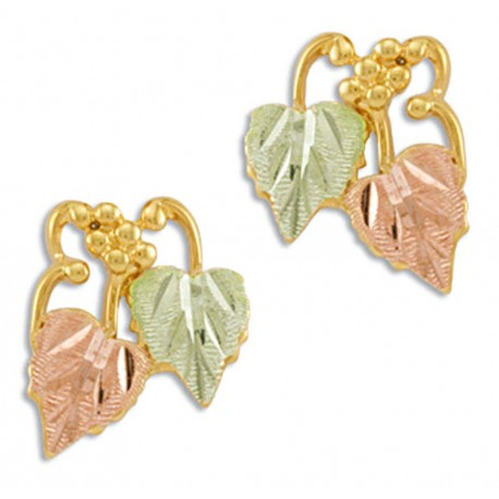 Landstrom's® 10K Black Hills Gold Leaves Post Earrings