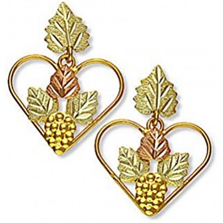 Landstrom's® 10K Black Hills Gold Heart Earrings with Grape