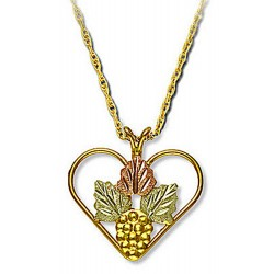 Landstrom's® 10K Black Hills Gold Heart Pendant with Grape