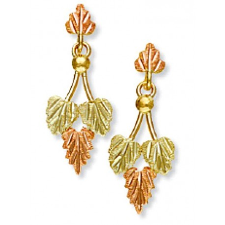 Landstrom's® 10K Black Hills Gold Traditional Leaves Earrings