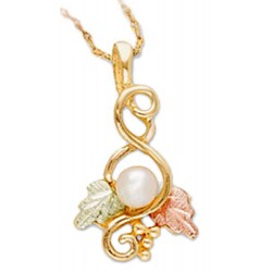 Landstrom's® 10K Black Hills Gold Pendant with Pearl