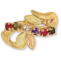 Landstrom's® Family Jewelry - Black Hills Gold Mother's Ring with 2 to 6 Birthstones