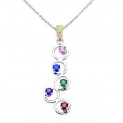 Choose up to 5 Birthstones - Landstrom's® Black Hills Gold on Sterling Silver Mother's Pendant