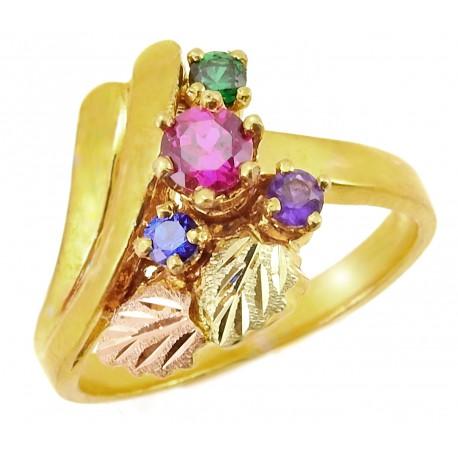 Landstrom's® Black Hills Gold Family Birthstone Ring 2-7 Stones