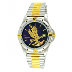 Men's Two Tone Black Hills Eagle Watch by Mt. Rushmore