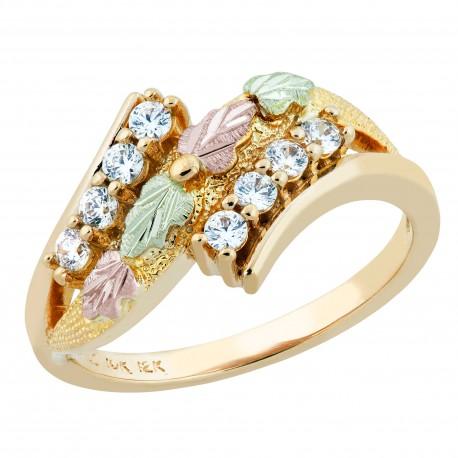 Landstrom's® Stunning 10k Black Hills Gold Women's Ring w/ CZ