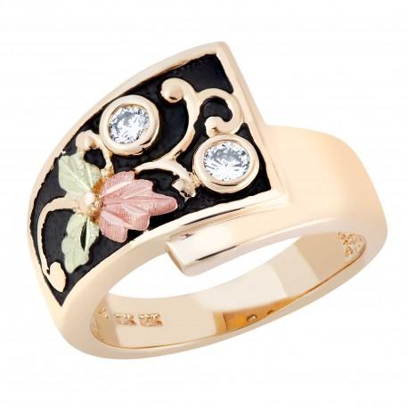 Landstrom's® 10k Black Hills Gold Women's Antiqued Diamond Ring