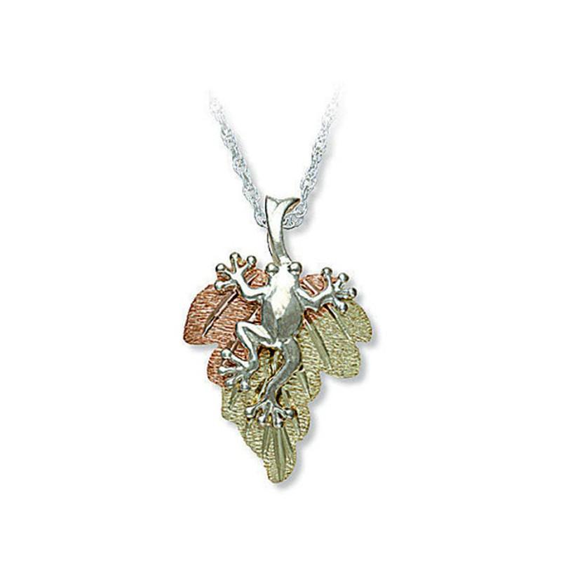 Black Hills Gold Sterling Silver Frog Pendant