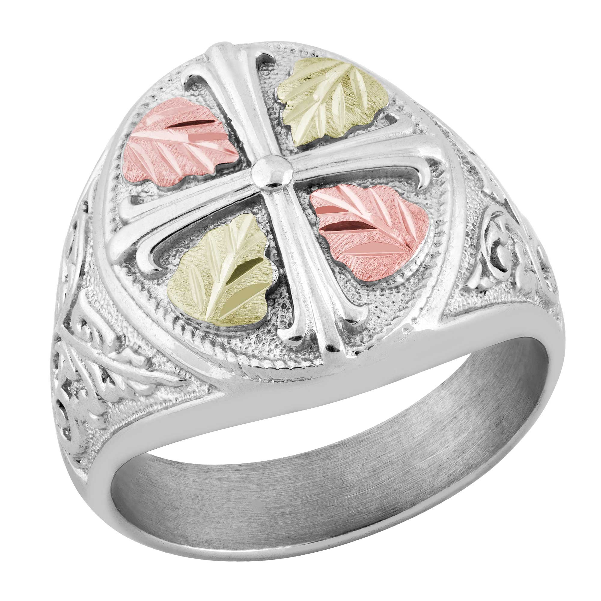 black hills gold on sterling silver ctr mens ring blackhillsgold