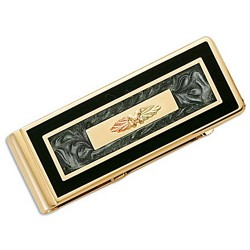 Landstrom's® Black Hills Gold on Money Clip w Inlay