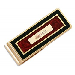 Landstrom's® Black Hills Gold on Money Clip w Decorative Inlay