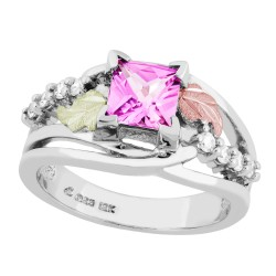Landstrom's® Black Hills Gold on Sterling Silver Pink Sapphire Ring