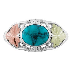 Landstrom's® Black Hills Gold on Sterling Silver Turquoise Ring