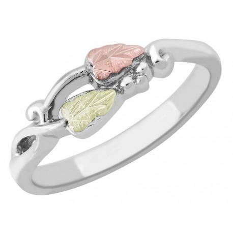 Landstrom's® Black Hills Gold on Sterling Silver Twist Ring