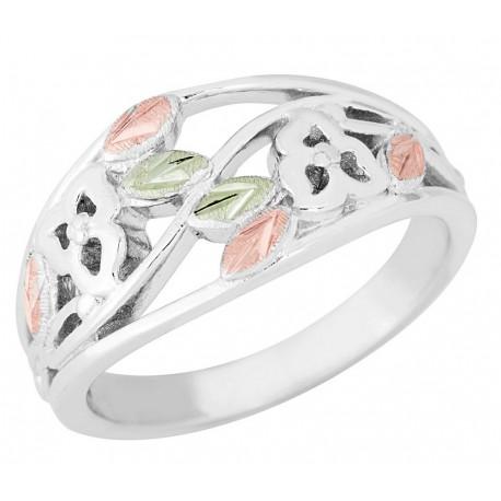 Landstrom's® Black Hills Gold on Sterling Silver Open Design Ladies Ring