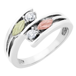 Landstrom's® Black Hills Gold on Sterling Silver Diamond Ring