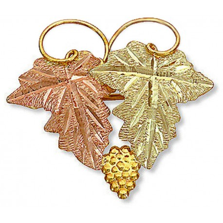 Landstrom's® 10K Black Hills Gold Leaves and Grape Brooch Pin