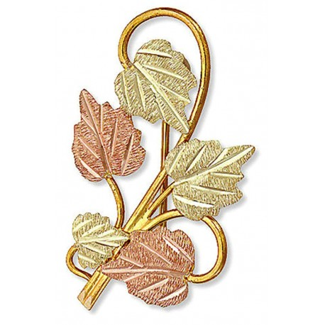 Landstrom's® 10K Black Hills Gold Leaves Brooch Pin
