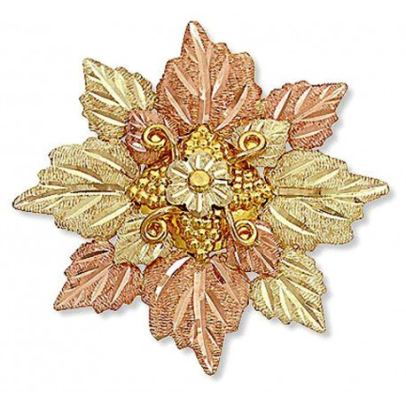 Landstrom's® 10K Black Hills Gold Leaves Cluster Brooch Pin