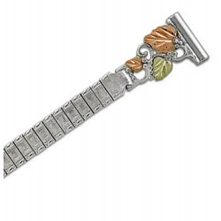 Landstrom's® Black Hills Gold on Sterling Silver Ladies Watchband