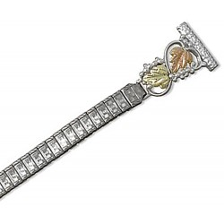 Landstrom's® Black Hills Gold Leaves on Sterling Silver Ladies Watchband