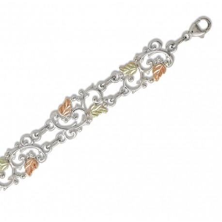 Landstrom's® Black Hills Gold on Sterling Silver Bracelet