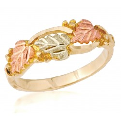 Black Hills Gold 10K Rose Ring by Mt. Rushmore