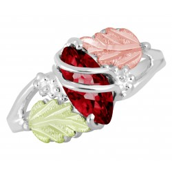 Landstrom's® Sterling Silver & Gold Garnet January Birthstone Ring