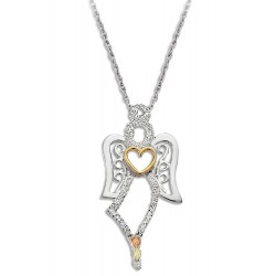 Landstrom's® Black Hills Gold Angel Pendant with 10K Gold Heart