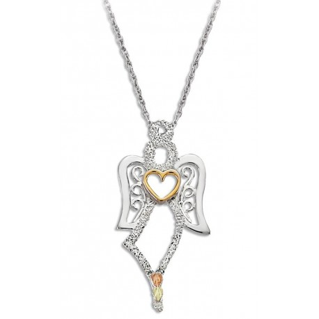 Landstrom's® Black Hills Gold Angel Pendant with 10K Gold Heart