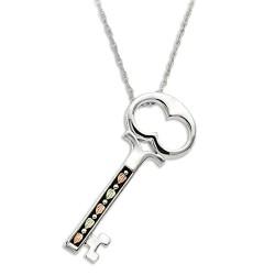 Landstrom's® Black Hills Gold Sterling Silver Key Pendant