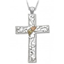 Landstrom's® Black Hills Gold on Sterling Silver Large Cross Pendant