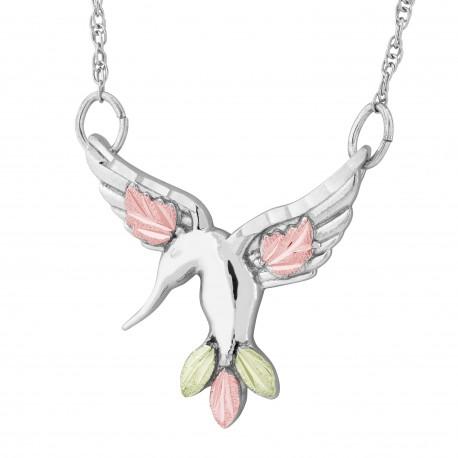 Landstrom's® Black Hills Gold on Sterling Silver Hummingbird Necklace