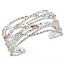 Landstrom's® Black Hills Gold on Sterling Silver Cuff Bracelet
