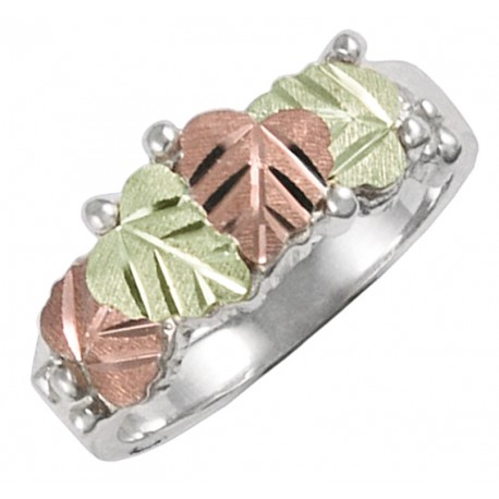 BHG STERLING SILVER LEAVES RING FOR LADIES