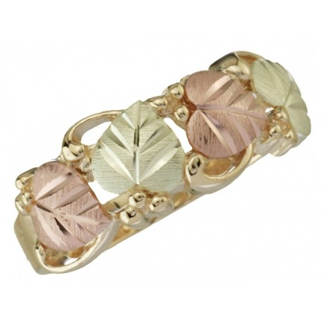 BLACK HILLS GOLD LEAVES RING for LADIES