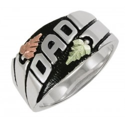 Black Hills Gold on Sterling Silver DAD Ring