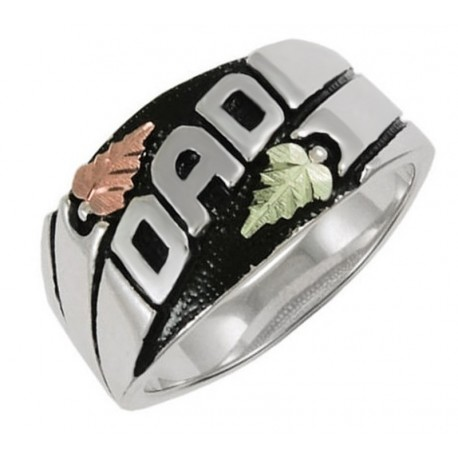 "Black Hills Sterling Silver ""DAD"" Ring"