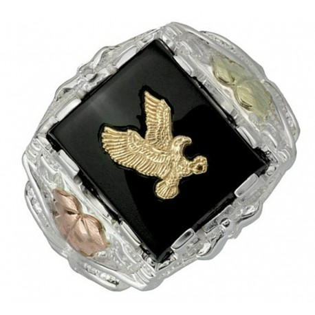Black Hills Sterling Silver Men's Eagle Ring